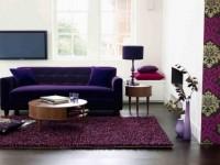 Фиолетовая гостиная — советы дизайнеров как создать яркий интерьер (80 фото)