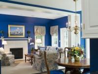 Синяя гостиная — 100 фото стильного цветового решения в интерьере гостиной