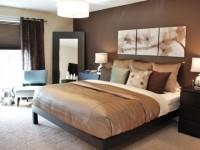 Коричневая спальня — 70 фото стильного сочетания цвета в интерьере
