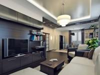 Гостиная 17 кв. м. — фото готового дизайна современной гостиной
