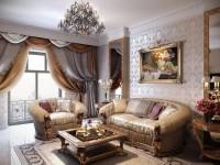 Гостиная в классическом стиле: обзор современных идей (70 фото дизайна)