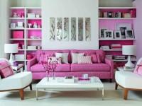 Гостиная в розовом цвете — 115 фото лучших идей яркого дизайна