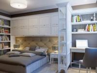 Рабочее место в спальне — правила организации + 55 фото