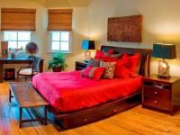 Яркая спальня — 100 фото оформления спальни в ярких тонах