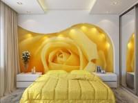 Желтая спальня — 100 фото идей сочетания в интерьере