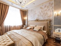 Золотая спальня — 100 фото роскошного и гламурного дизайна в спальне