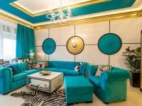 Золотая гостиная — элегантный дизайн и правила сочетания (80 фото)