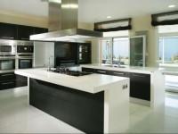 Черно-белая кухня — фото необычного дизайна с яркими акцентами (100 фото)