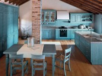Голубая кухня — спокойный и уютный дизайн (88 фото-новинок)