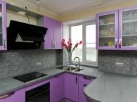 Кухня фиолетового цвета: стильный дизайн, сочетание цветов (100 фото)