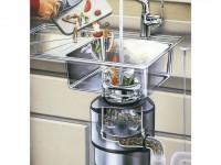 Кухонный диспоузер (измельчитель для кухни) — порядок установки и использования на 50 фото