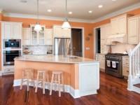 Кухня персикового цвета — оптимальные варианты сочетания дизайна (75 фото)