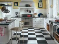 Плитка для кухни на пол — 90 фото лучших идей и новинок