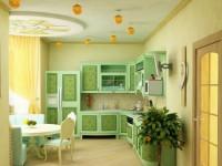 Салатовая кухня — варианты освежающего дизайна на 75 фото