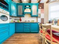Кухня бирюзового цвета — 70 фото примеров по сочетанию бирюзового дизайна кухни