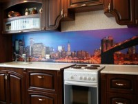 Кухонные фартуки с фотопечатью: фото интересных и нестандартных решений