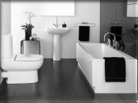 Черно-белая ванная комната — 105 фото современного дизайна
