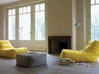 Пуфик в интерьере — красивые и практичные модели. 95 фото идей!