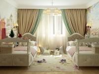 Интересные идеи дизайна детской комнаты для двух сестер