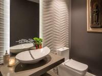 Лучшие идей дизайна маленького туалета с раковиной (100 фото)