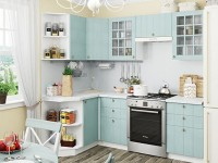 Лучшие варианты угловых гарнитуров для маленькой кухни (100 фото)