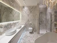 Идеи дизайна мраморной ванной комнаты с фото-примерами