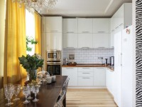 Белые глянцевые  кухни: материалы и выбор стиля