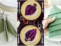 Как сделать красиво салфетки на праздничный стол?
