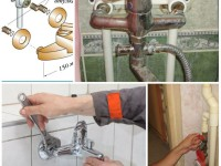 Как поменять смеситель в ванной своими руками
