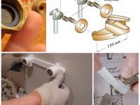 Как установить смеситель на раковину в ванной?
