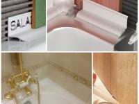 Как засиликонить швы в ванной?
