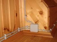 Монтаж электропроводки в каркасном доме