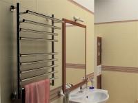 Как крепить полотенцесушитель к стене в ванной?