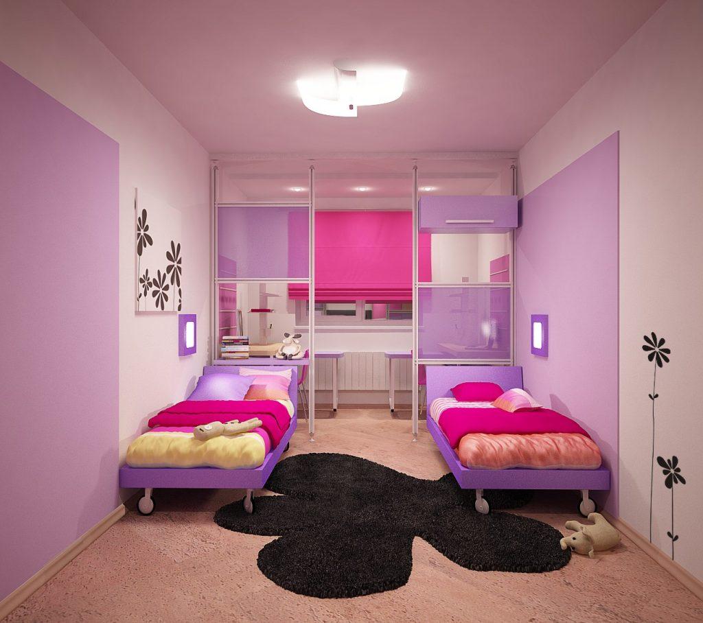 Фото ремонта спальни для девочек