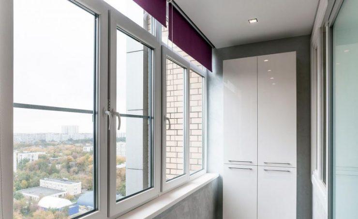 фото шкафов на балконе