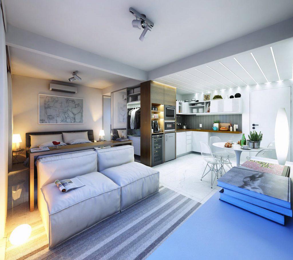 Дизайн квартир студий 30 кв метров