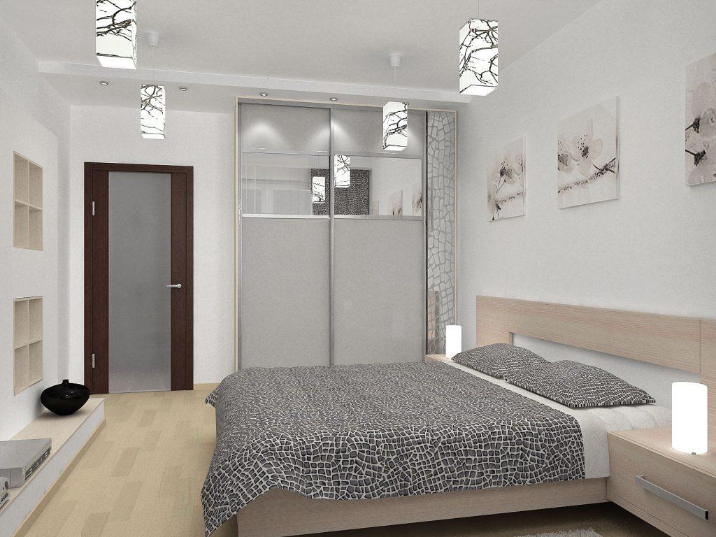Спальни и кровати серого цвета