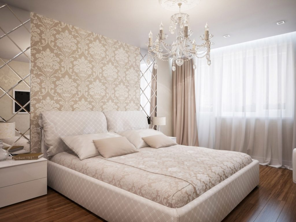Интерьеры спальни в бежевых тонах фото