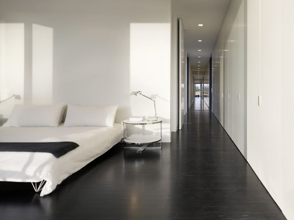 White floor bedroom