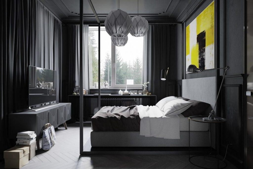 темная спальня 120 фото необычных дизайнерских идей в спальне