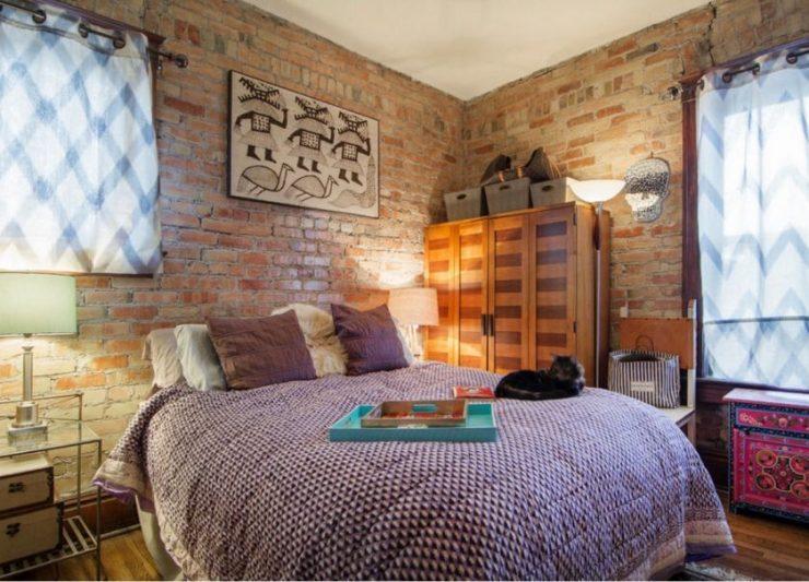 Декор стены в спальной комнате 9