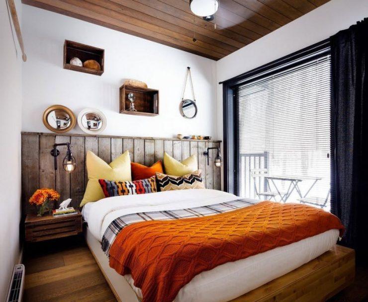Декор стены в спальной комнате 5