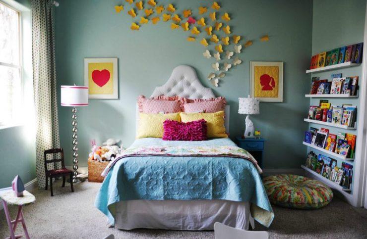 Декор стены в спальной комнате 8