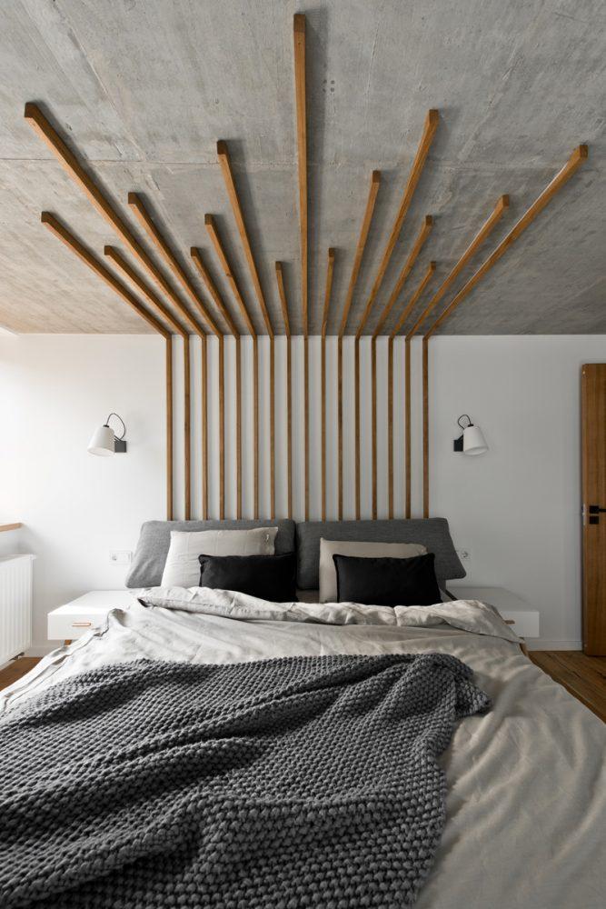 Декор стены в спальной комнате 2