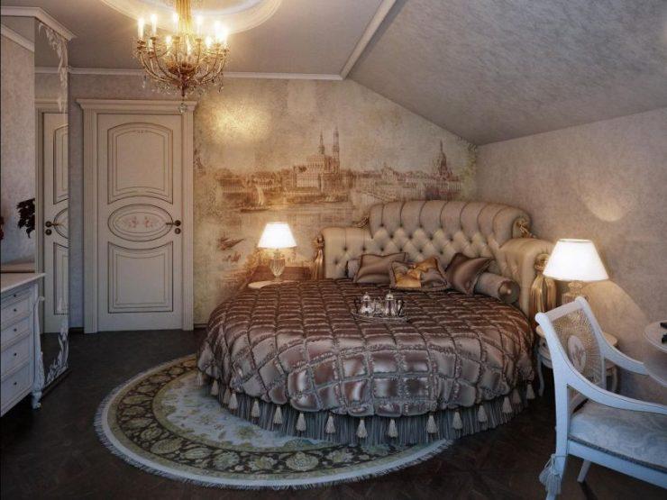 Декор стены в спальной комнате 6