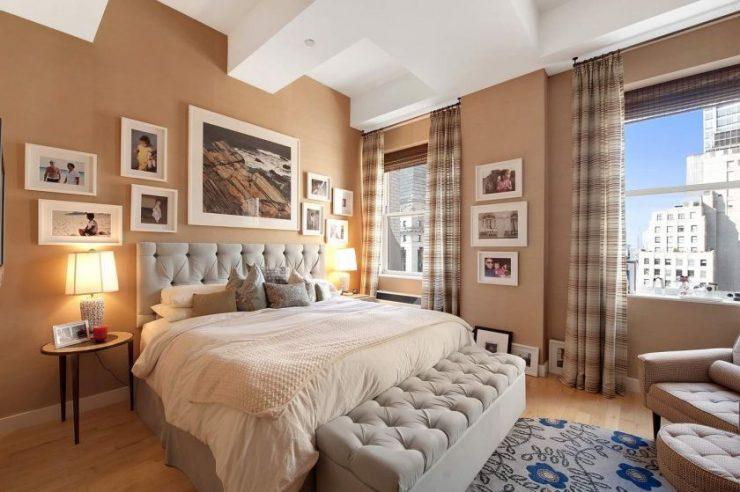 Декор стены в спальной комнате 4