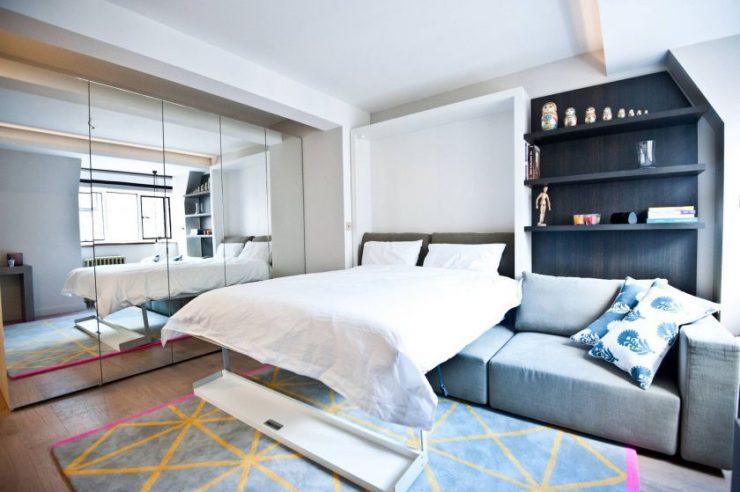 Спальня в однокомнатной квартире