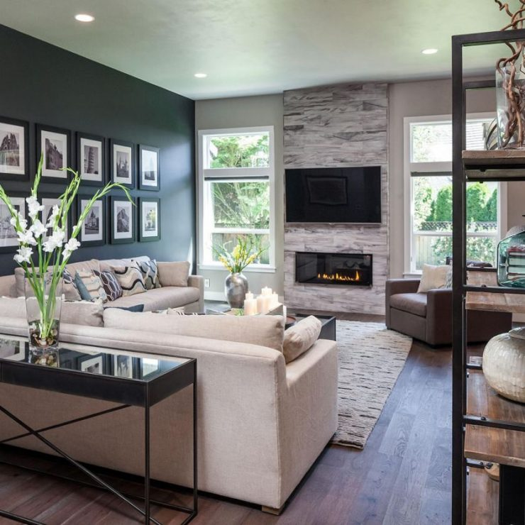 Accent wall living room designs