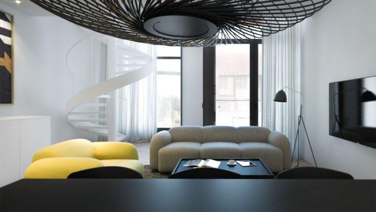 Гостиная в стиле модерн - фото обзор лучших идей необычного дизайна