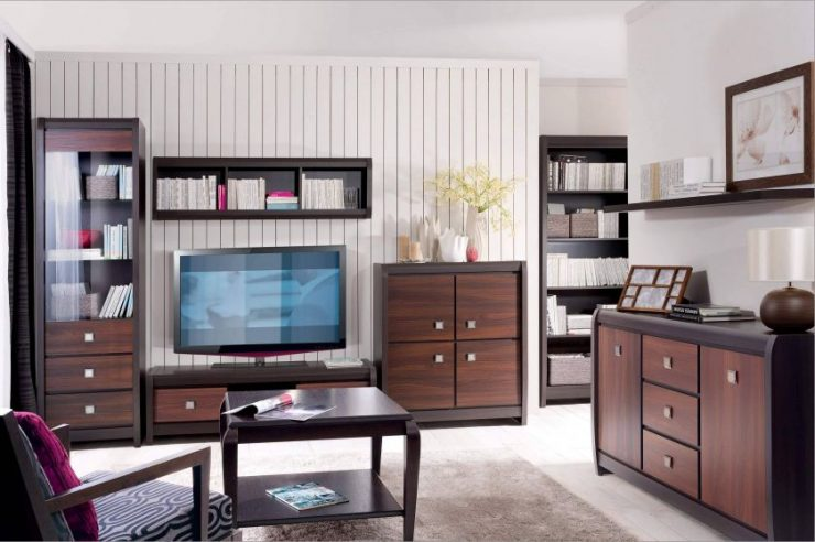 Гостиная венге: ТОП-100 фото идеального сочетания в интерьере гостиной